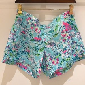 NWT Lilly Pulitzer Ocean View Shorts, Medium